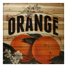 """""""French Fruit"""" Painting Print on Natural Pine Wood"""