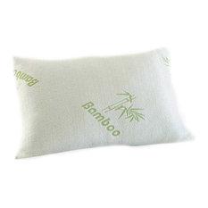 Bluff City Bedding, Premium Queen Bamboo Comfort Pillow, Stay Cool, Set of 2