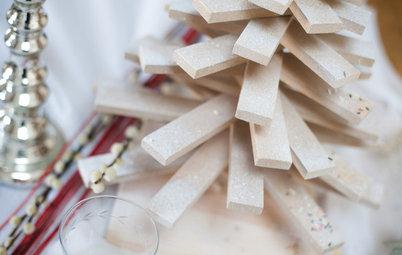 DIY : Fabriquez un sapin en bois pour un centre de table très design