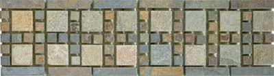 Border, Square Slate Mosaic - Tile