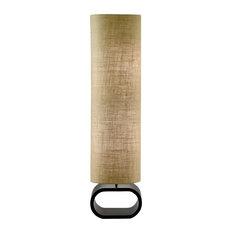 Adesso 1520-18 Harmony Floor Lamp, Painted MDF Walnut