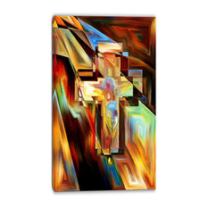 """""""Light of the Cross"""" Abstract Canvas Artwork, 16""""x32"""""""