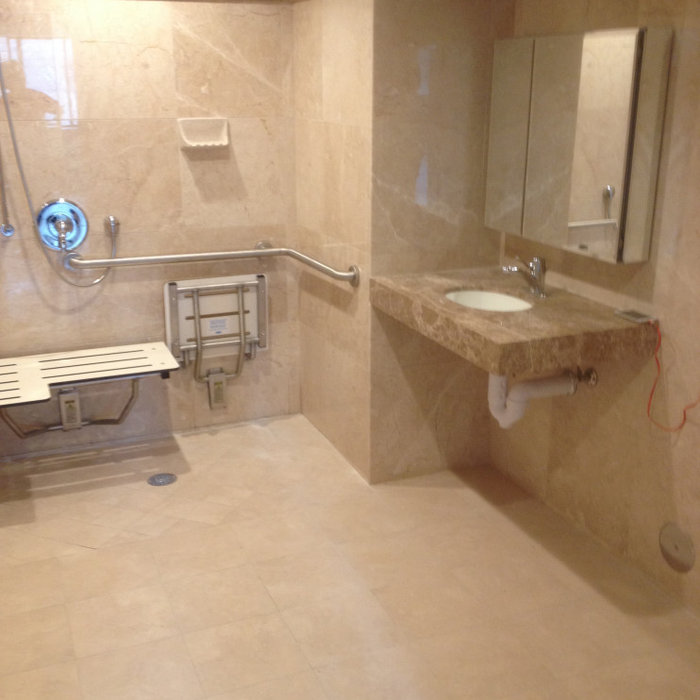 Commerical Marble Shower