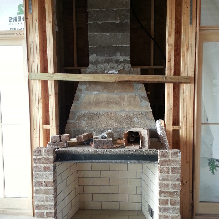 Fireplaces under construction
