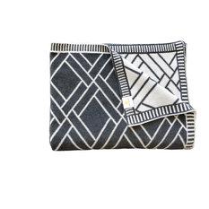 Luxury Throw Blanket, 100% Cotton, Sveda Collection, Bricks