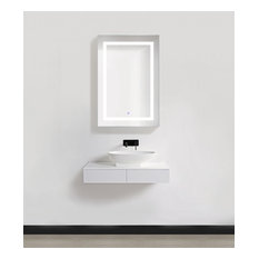 "24"" Wide LED Medicine Cabinet With DeFog, Dimmer, and Outlets, 36""t, Right"