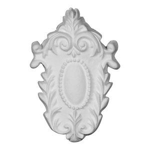 Ekena Millwork ONL06X03X01WR 6 3//8 W x 2 H x 5//8 P Wreath Onlay Factory Primed White
