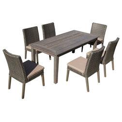 Fabulous Tropical Outdoor Dining Sets by VirVentures