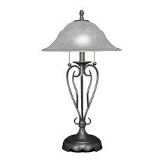 Olde Iron 2-Light Table Lamp Brushed Nickel