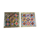 Mogulinterior - Vintage Silk Cushion Cover Indian Sari Border Patchwork Decorative Pillow Cases - Pillowcases and Shams
