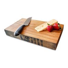 "WhiskeyMade Bourbon Barrel Butcher Block/Cutting Board, 14.5"""