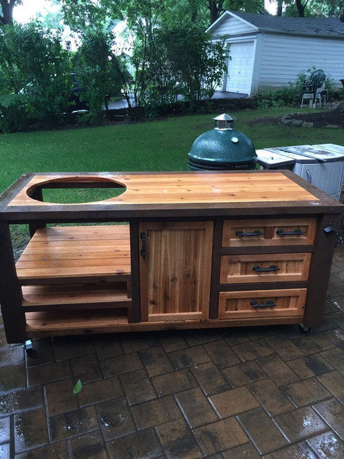 Grill Cabinets & Mobile Outdoor Kitchens for Kamado & Gas Grills - Custom Design
