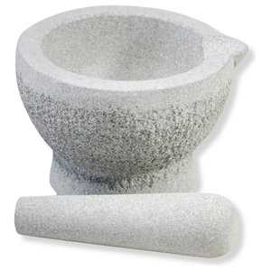 Granite Pestle and Mortar Set With Spout
