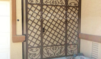 This is a custom iron Entryway, with custom iron scrolls, and two tone color.