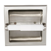 Millbridge Recessed Toilet Paper Holder for Bathroom, Satin Nickel Finish