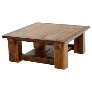 0162f016ca87 AICO Michael Amini Brighton Square Cocktail Table - Rustic - Coffee ...