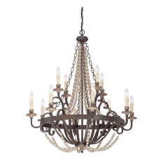 Savoy House Europe Mallory Chandelier With Crystals, 12 Lights