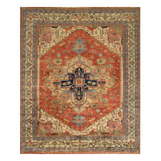 "Pasargad Serapi Collection Hand-Knotted Lamb's Wool Area Rug- 6' 1"" X  9' 0"""