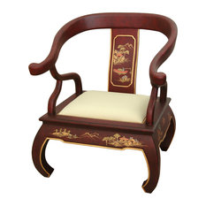 Red Landscape Ming Chair