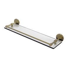 """22"""" Tempered Glass Shelf With Gallery Rail"""