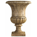 French Heritage - French Heritage Luxembourg Wooden Vase - With the aura of a lost Greek or Roman antiquity of centuries past, this legendary urn might have graced the home of a Roman Proconsul, or governor, of the province of Gaul. -Base sold separately -Weight: 115lbs