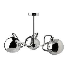 Arvin Chrome 3-Light Chandelier