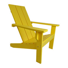 Modern Poly Adirondack Chair, Yellow