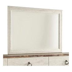 Ashley Willowton Bedroom Mirror, Whitewash