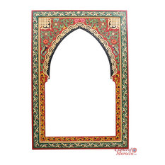 Moroccan Mirrors Zouak 90cm x 60cm Red Green Limited Edition