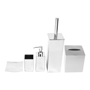 Free Standing Stainless Steel Bathroom Accessory Set