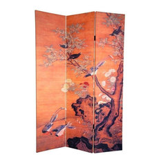 6' Tall Double Sided Chinese Landscapes Canvas Room Divider