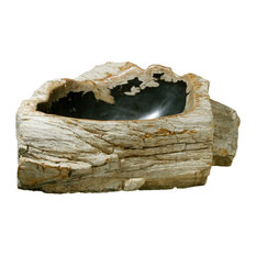 Petrified Wood Bathroom Sink, Black, 20-25""