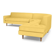 Monroe 3-Piece Sectional Sofa, Gold, Chaise on Right