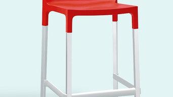 Divani Bar Stool - Red (650H)