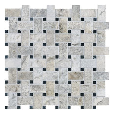 "12""x12"" Silverado Honed & Filled Basket Weave Rustic Mosaic"