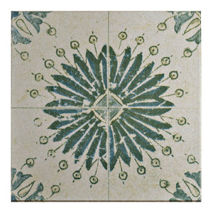 """12.75""""x12.75"""" Clinker Retro Blanco Quarry Floor and Wall Tile, Aster"""