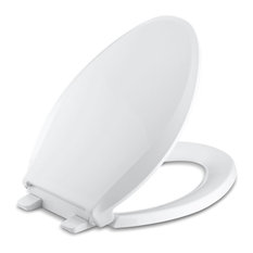 Kohler - Kohler Cachet Quiet-Close With Grip-Tight Elongated Toilet Seat, White - Toilet Seats