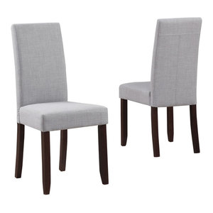 Acadian Contemporary Parson Dining Chair, Set of 2, Dove Gray