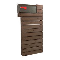 Modernist Mailbox - Modern Mailbox - Dark Walnut, Dark Bronze Numbers, Dark Bronze Mailbox - Mailboxes