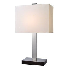 Table Lamp, Black White Fabric Shade, E27 Type Cfl 13W