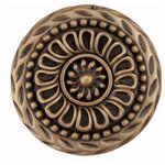 "Acorn Manufacturing - Lace Circle Cabinet Knob, 1-1/4"", Museum Gold - Acorn Manufacturing  DQFGP: 1-1/4"" Lace Circle Cabinet Knob in Museum Gold finish. The Artisan collection from Acorn Manufacturing features whimsical, nautical and nature-themed cabinet knobs cast in lead-free pewter and made in the USA."