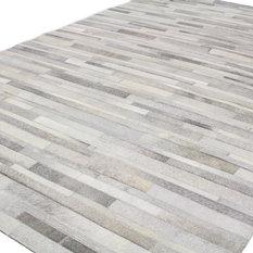 MOD - Glisten Gray Leather Rug, 10'x14' - Area Rugs