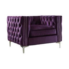 Gatlin Club Chair, Purple. Purple Velvet Armchairs ...