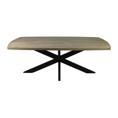 Redondo Dining Table With Mango Wood Top and Iron Legs