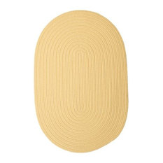 Colonial Mills, Inc - Colonial Mills Boca Raton BR34 Pale Banana 9' x 12' Oval - Outdoor Rugs