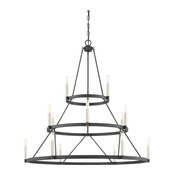 Quoizel Doran 12-Light Chandelier, Mottled Black