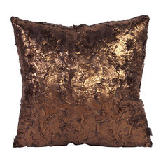 "Howard Elliott Gold Cougar Pillow, 20""x20"", Polyester Insert"