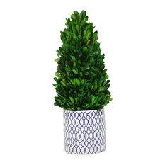Desktop Tower Boxwood Topiary Planter