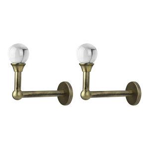 Pair of Curtain Holdback//Tiebacks,Stainless Steel Satin Chrome Antique Brass
