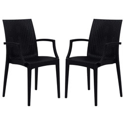 Contemporary Outdoor Dining Chairs by LeisureMod